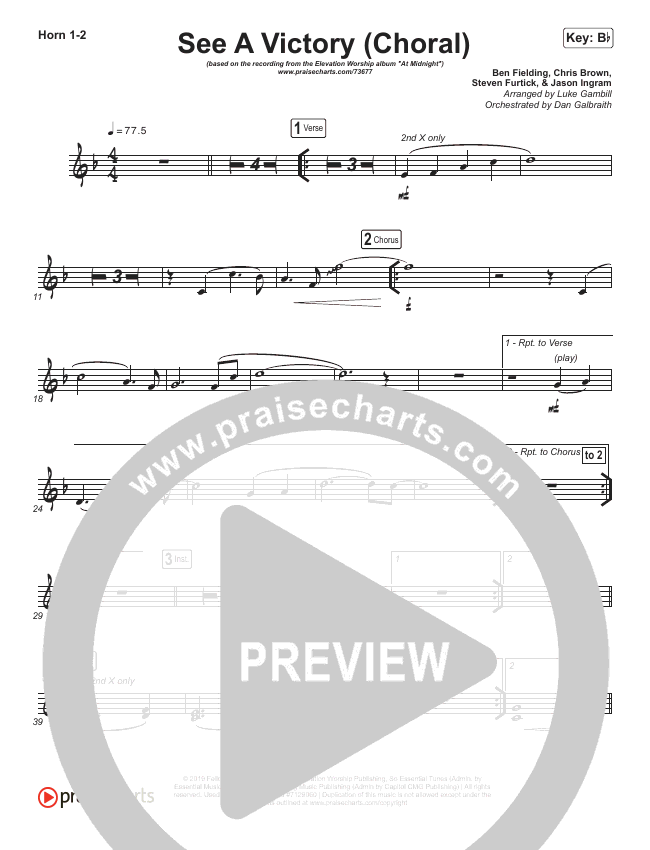 See A Victory (Choral) Brass Pack (PraiseCharts Choral / Elevation Worship / Arr. Luke Gambill)