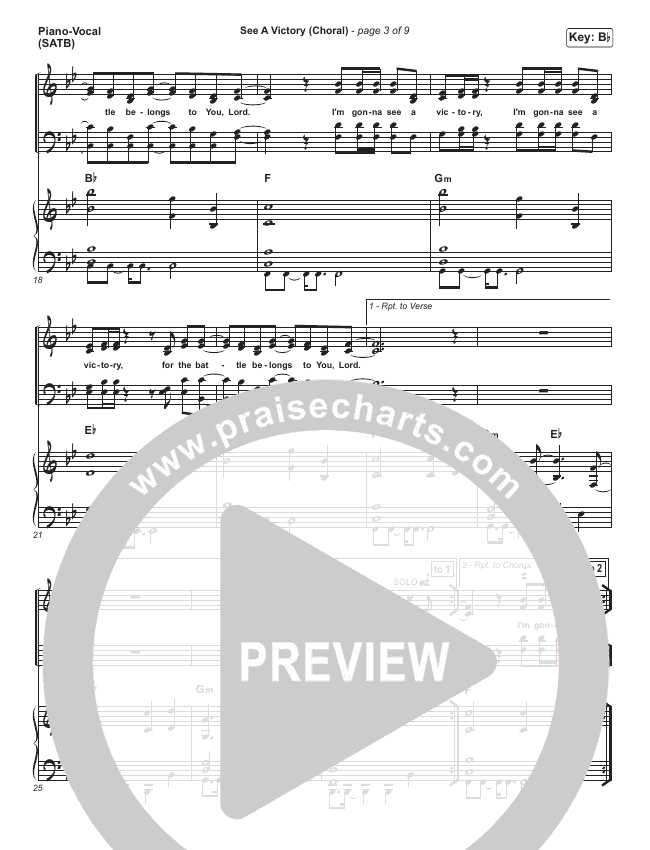 See A Victory (Choral) Orchestration (PraiseCharts Choral / Elevation Worship)