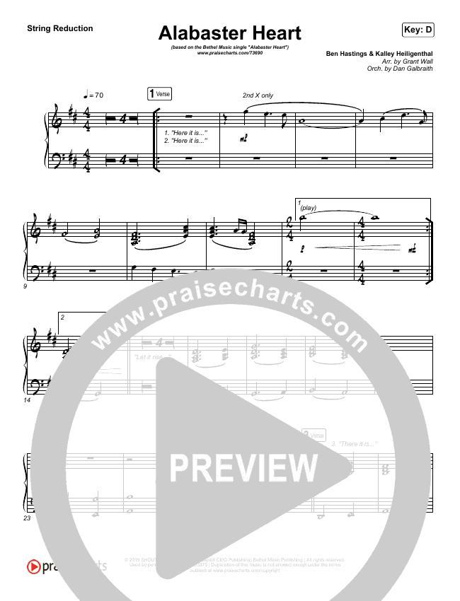 Alabaster Heart (Live) String Pack (kalley / Bethel Music)
