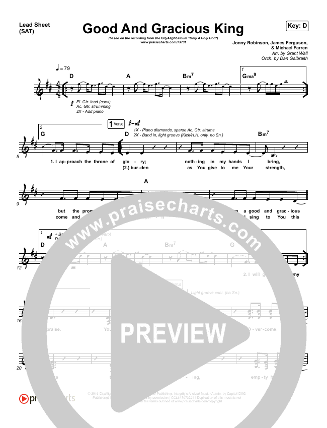 Good And Gracious King Orchestration (with Vocals) (CityAlight)