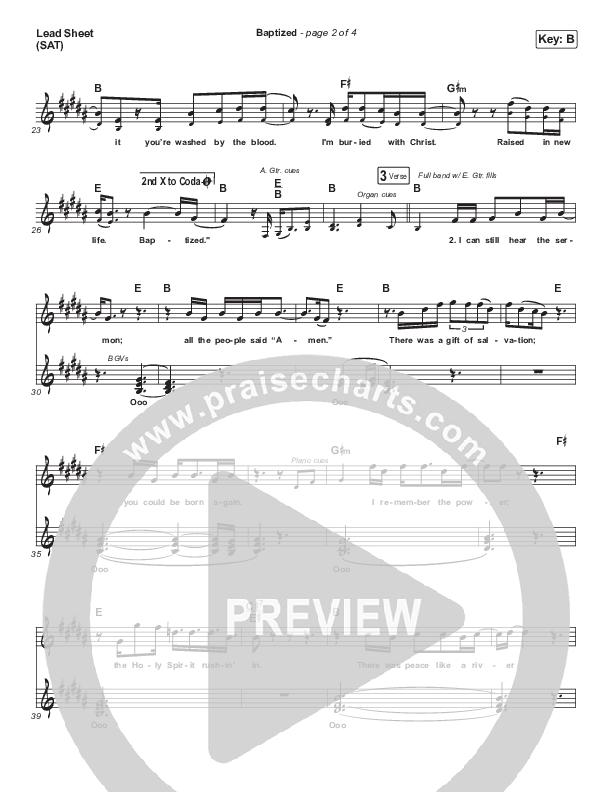 Baptized Piano/Vocal Pack (Zach Williams)