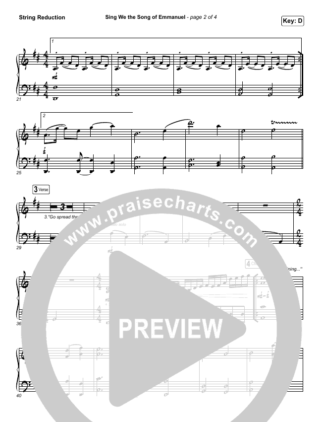 Sing We The Song Of Emmanuel String Pack (Matt Boswell / Matt Papa)