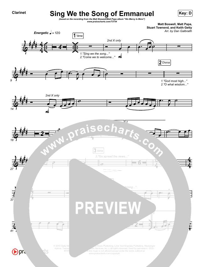 Sing We The Song Of Emmanuel Wind Pack (Matt Boswell / Matt Papa)