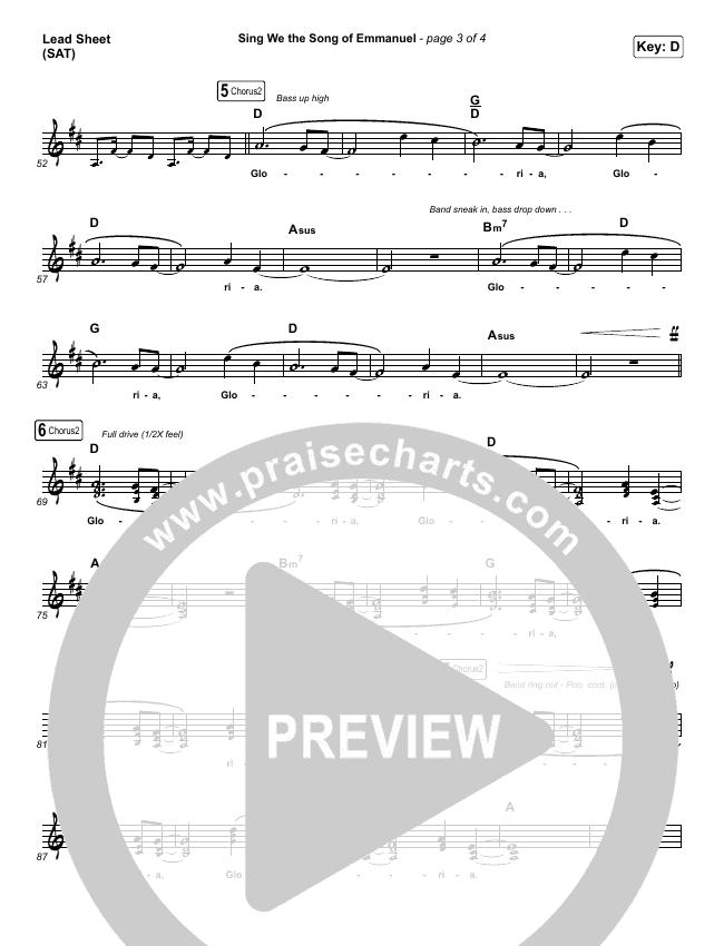 Sing We The Song Of Emmanuel Lead Sheet (SAT) (Matt Boswell / Matt Papa)