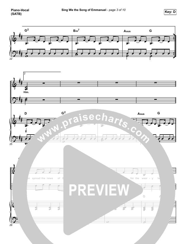 Sing We The Song Of Emmanuel Piano/Vocal (SATB) (Matt Boswell / Matt Papa)