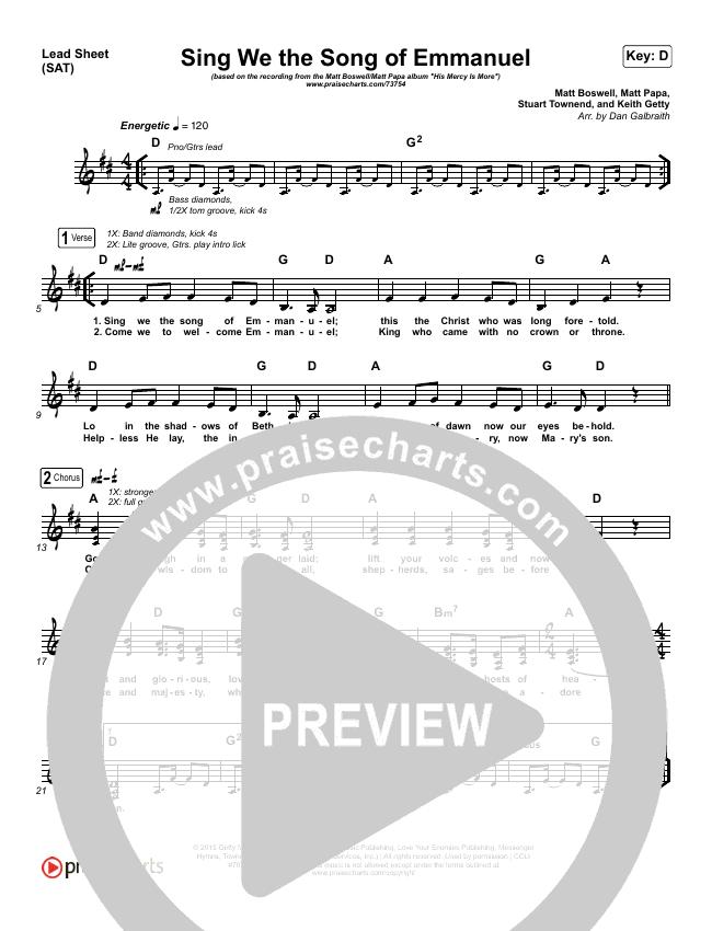 Sing We The Song Of Emmanuel Orchestration & Finale (Matt Boswell / Matt Papa)