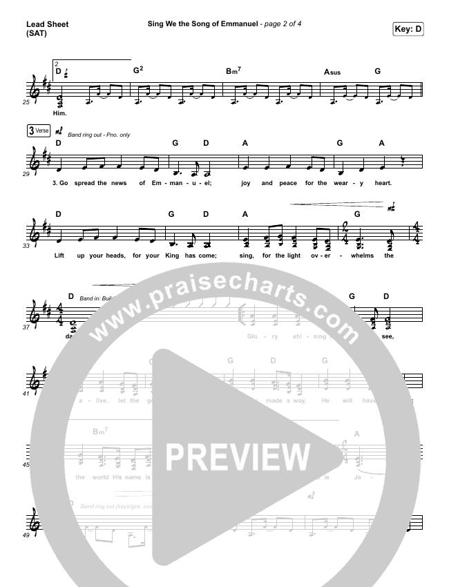 Sing We The Song Of Emmanuel Piano/Vocal Pack (Matt Boswell / Matt Papa)