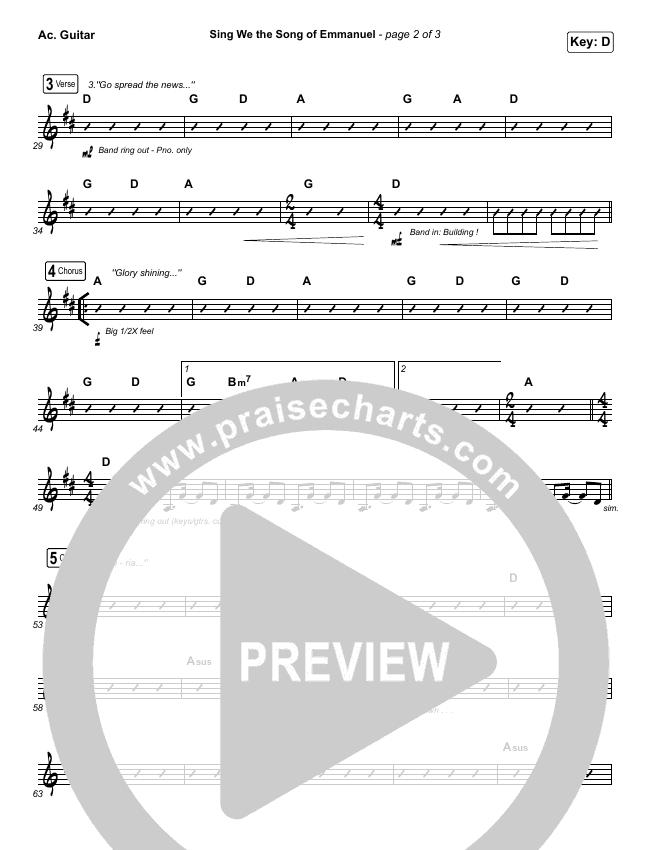 Sing We The Song Of Emmanuel Rhythm Chart (Matt Boswell / Matt Papa)