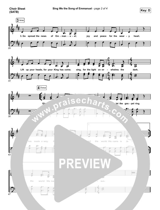 Sing We The Song Of Emmanuel Choir Sheet (SATB) (Matt Boswell / Matt Papa)