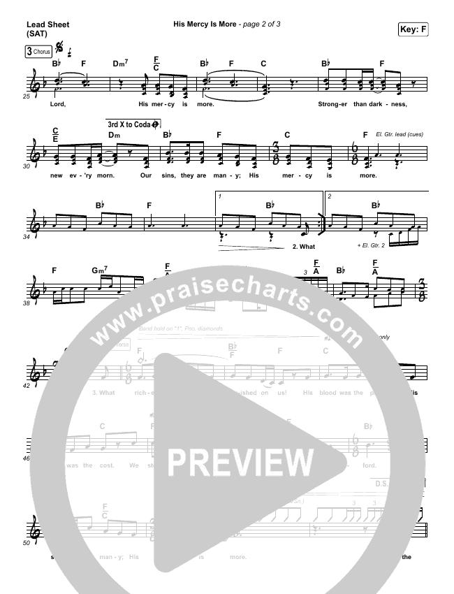 His Mercy Is More Piano/Vocal Pack (Matt Boswell / Matt Papa)