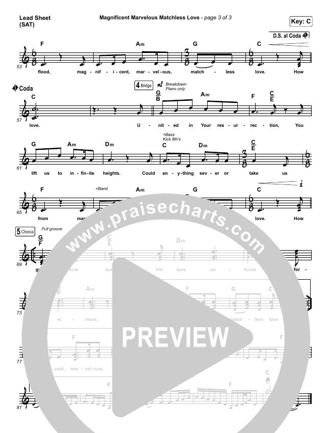 Magnificent Marvelous Matchless Love Lead & Piano/Vocal (Matt Boswell / Matt Papa)