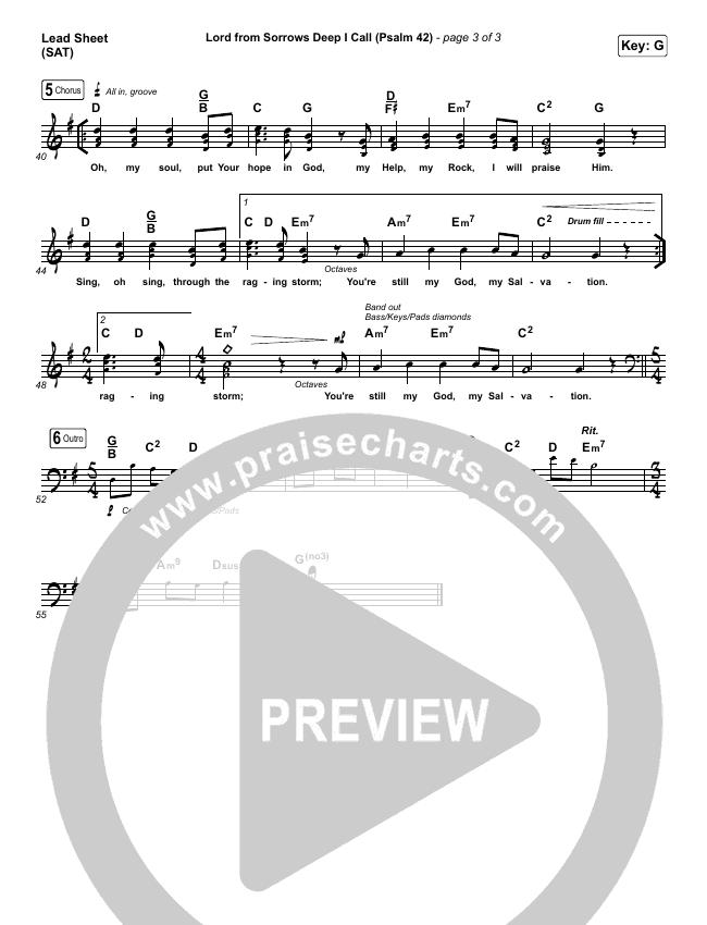 Lord From Sorrows Deep I Call (Psalm 42) Lead Sheet (SAT) (Matt Boswell / Matt Papa)