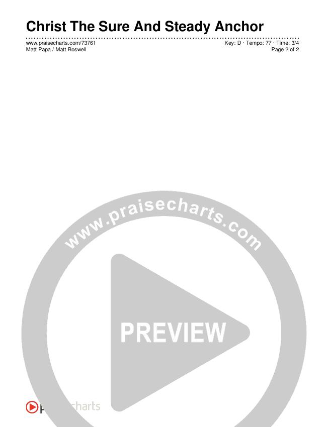 Christ The Sure And Steady Anchor Chords & Lyrics (Matt Boswell / Matt Papa)