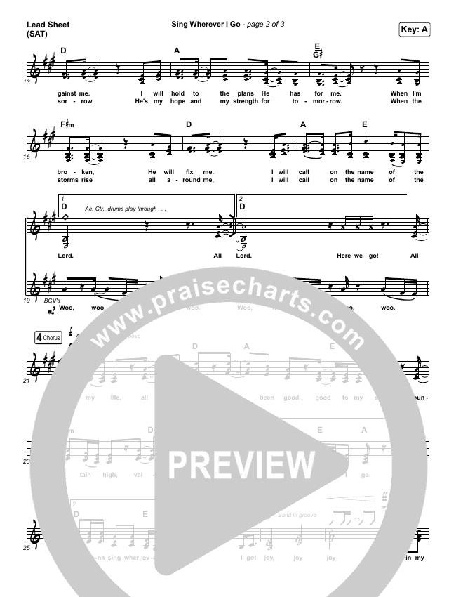 sing wherever i go sheet music pdf (we the kingdom) - praisecharts  praisecharts
