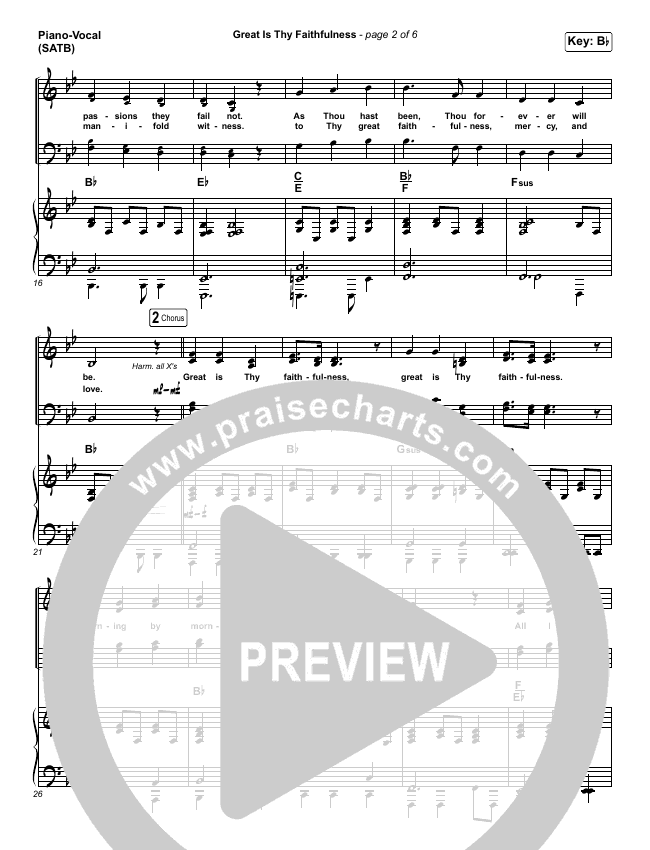 Great Is Thy Faithfulness Piano/Vocal (SATB) (Christy Nockels)