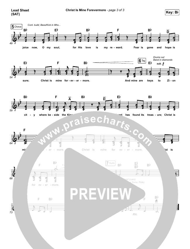 Christ Is Mine Forevermore Lead Sheet (SAT) (CityAlight)
