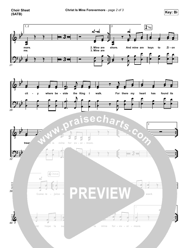 Christ Is Mine Forevermore Choir Sheet (SATB) (CityAlight)
