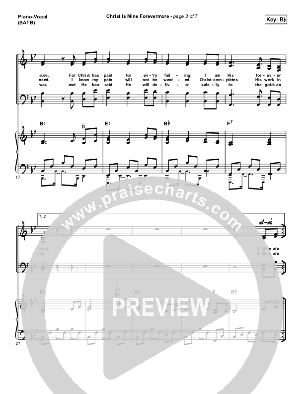 Christ Is Mine Forevermore Piano/Vocal (SATB) (CityAlight)