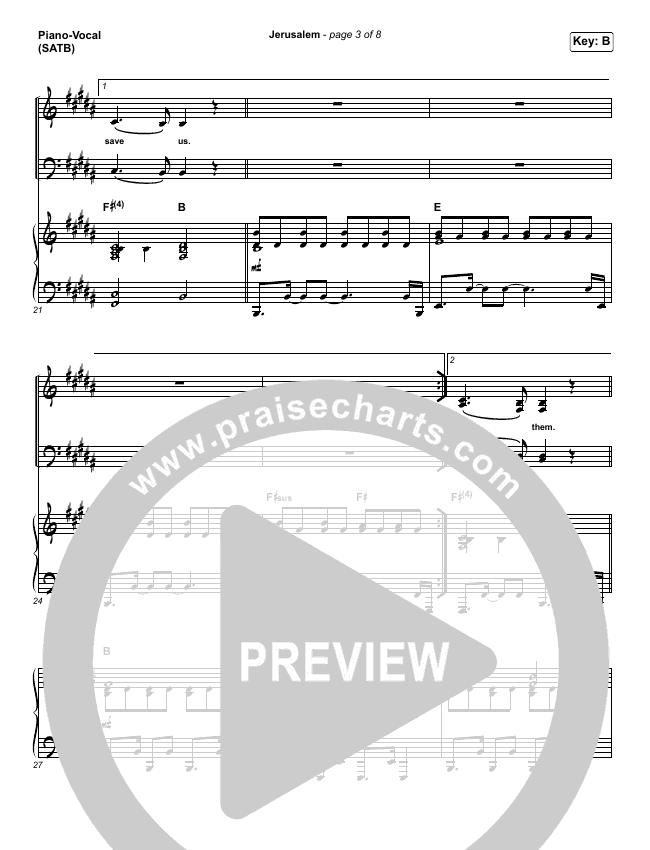 Jerusalem Piano/Vocal (SATB) (CityAlight)