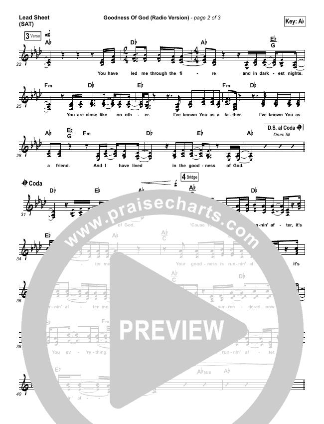 Goodness Of God (Radio) Piano/Vocal Pack (Jenn Johnson / Bethel Music)