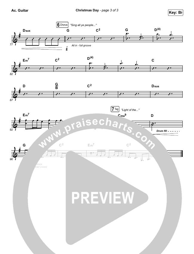 Christmas Day Rhythm Acoustic Guitar Chart - Chris Tomlin, We Are Messengers | PraiseCharts