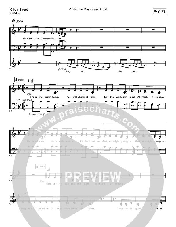 Christmas Day Choir Sheet (SATB) (Chris Tomlin / We The Kingdom)