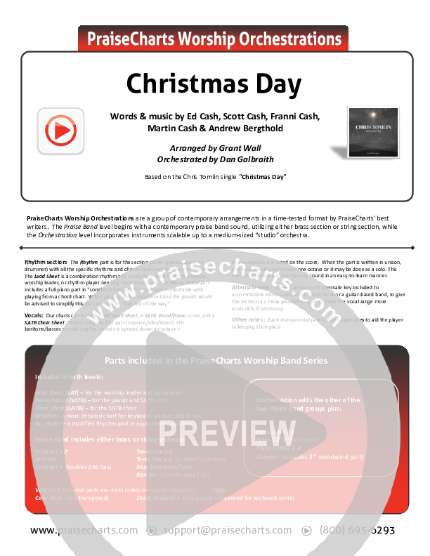 Christmas Day Orchestration (Chris Tomlin / We The Kingdom)