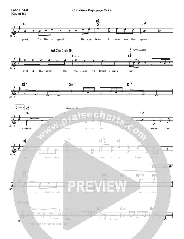 Christmas Day Lead Sheet (Melody) (Chris Tomlin / We The Kingdom)