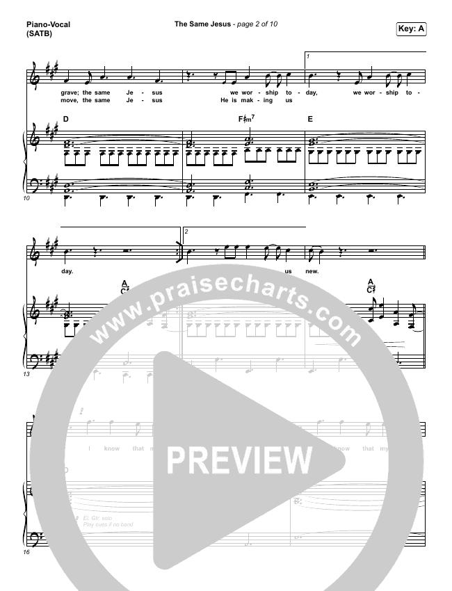The Same Jesus (Live) Piano/Vocal (SATB) (Matt Redman)