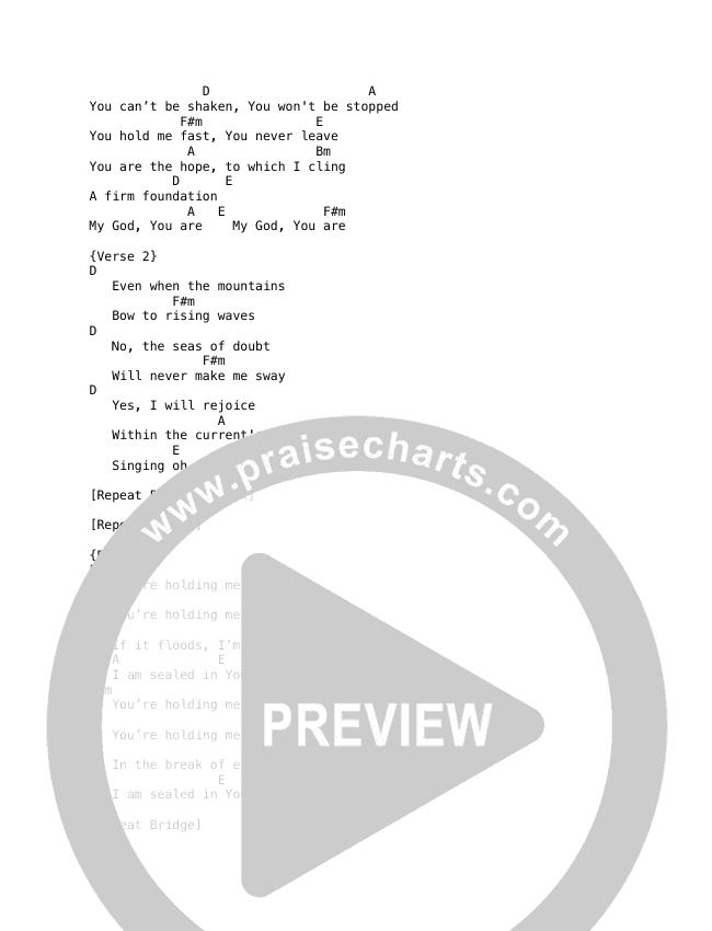 Firm Foundation Chord Chart (Selah)