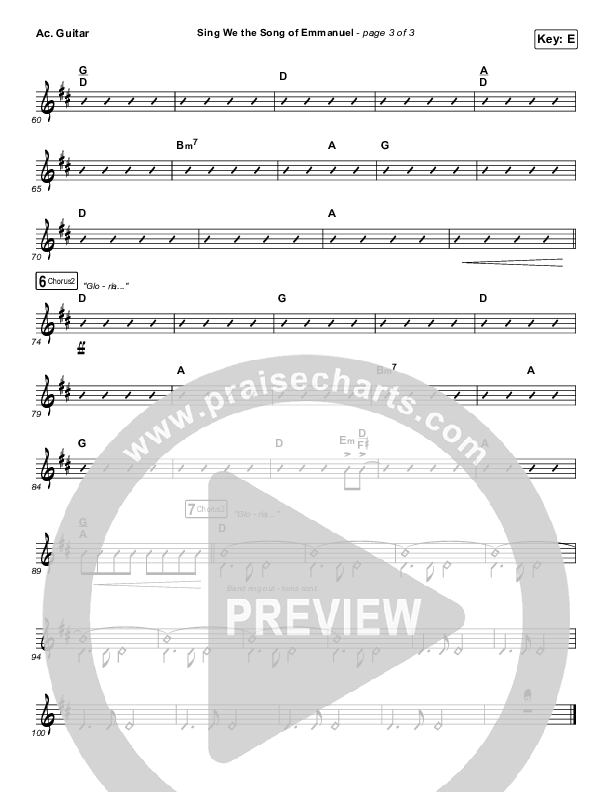 Sing We The Song Of Emmanuel Acoustic Guitar (Matt Boswell / Matt Papa / Keith & Kristyn Getty)
