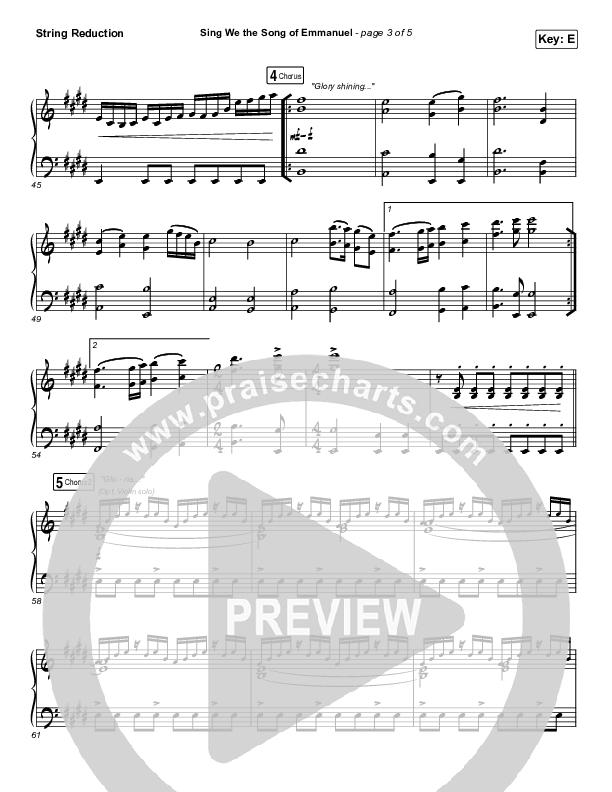Sing We The Song Of Emmanuel String Pack (Matt Boswell / Matt Papa / Keith & Kristyn Getty)