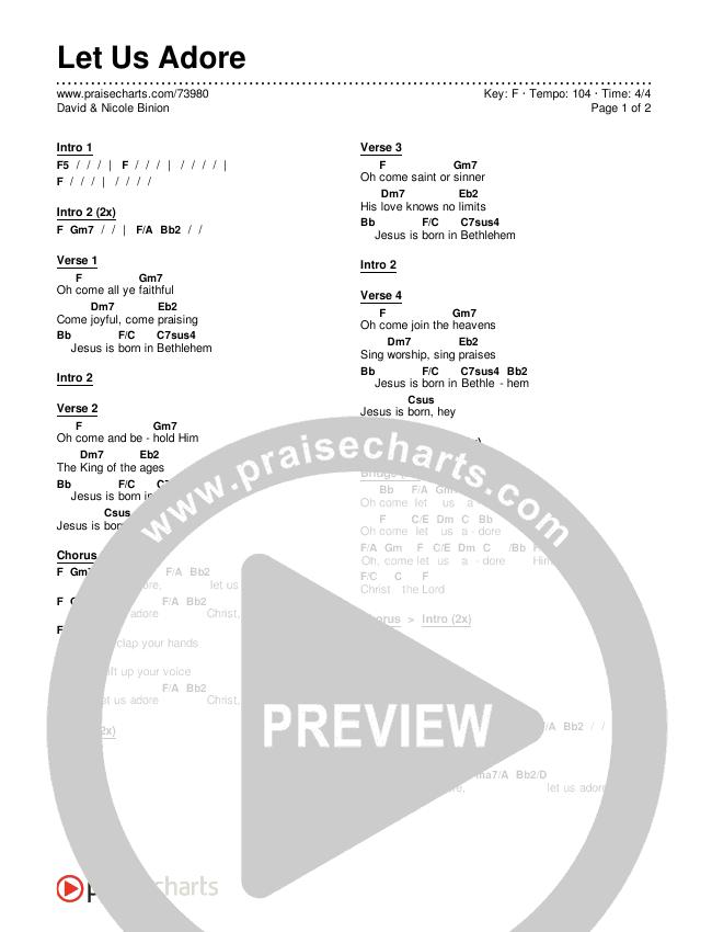 Let Us Adore Chords & Lyrics (David & Nicole Binion)