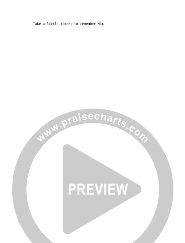 The Reason Chord Chart (David & Nicole Binion / William McDowell)