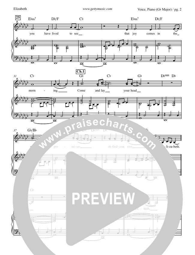 Elizabeth Piano/Vocal (Ellie Holcomb / Keith & Kristyn Getty)