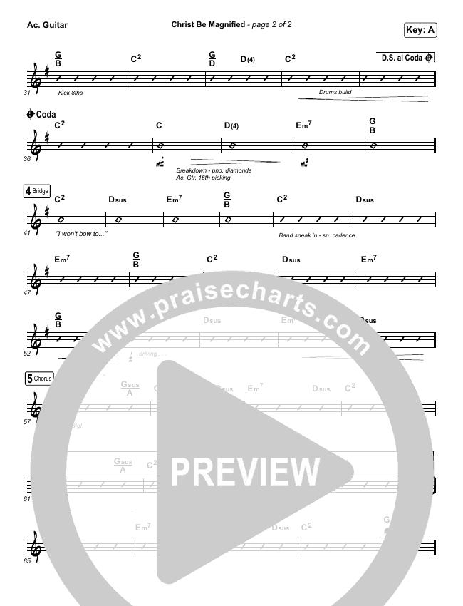 Christ Be Magnified Rhythm Chart (Cody Carnes)