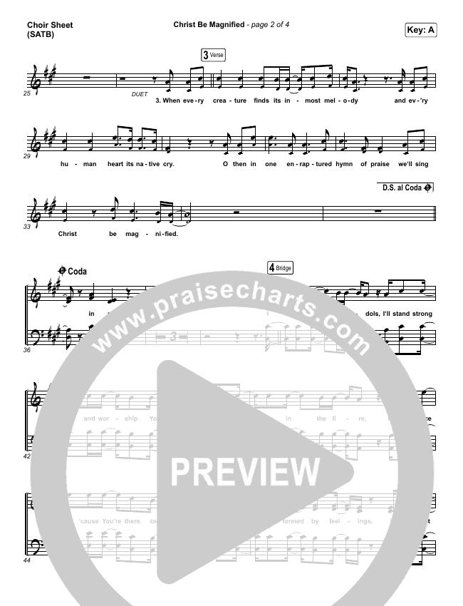 Christ Be Magnified Choir Sheet (SATB) (Cody Carnes)