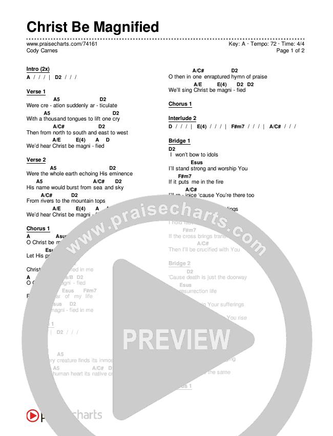 Christ Be Magnified Chords & Lyrics (Cody Carnes)