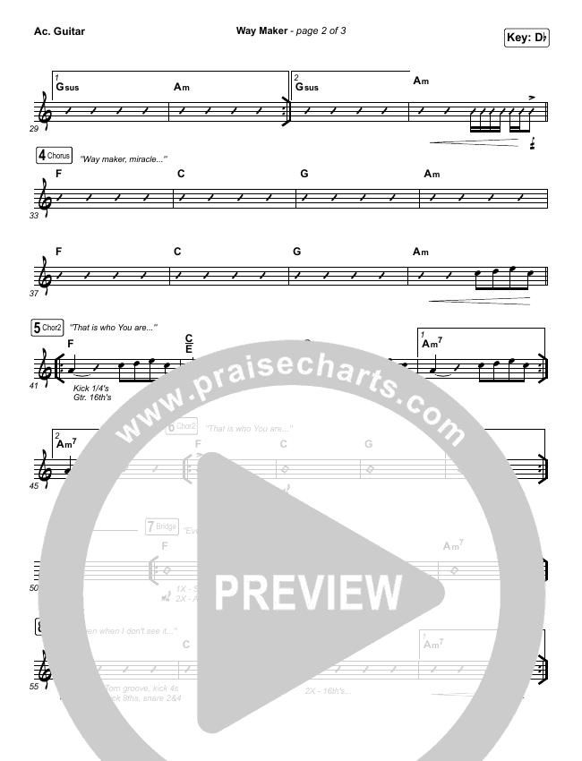 Way Maker (Live At Bethel) Rhythm Chart (Paul McClure / Hannah McClure / The McClures)