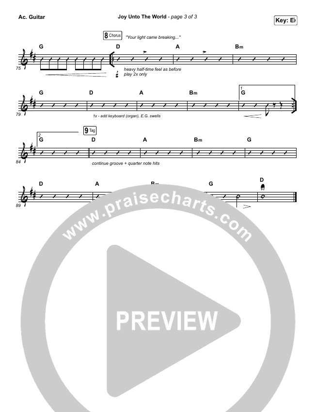 Joy Unto The World Rhythm Chart (The Afters)