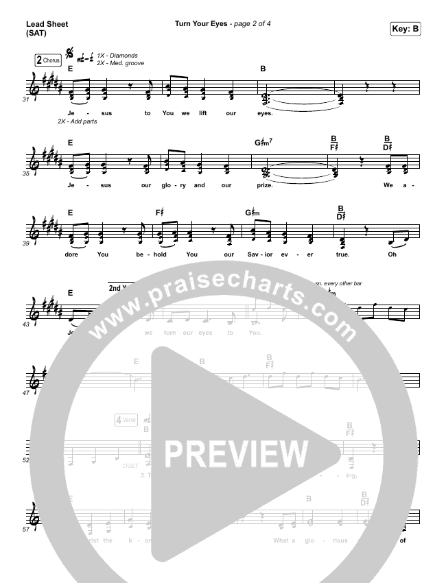 Turn Your Eyes Piano/Vocal Pack (Sovereign Grace)