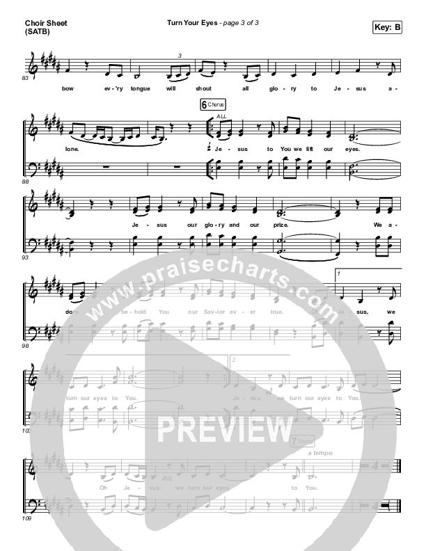 Turn Your Eyes Choir Sheet (SATB) (Sovereign Grace)