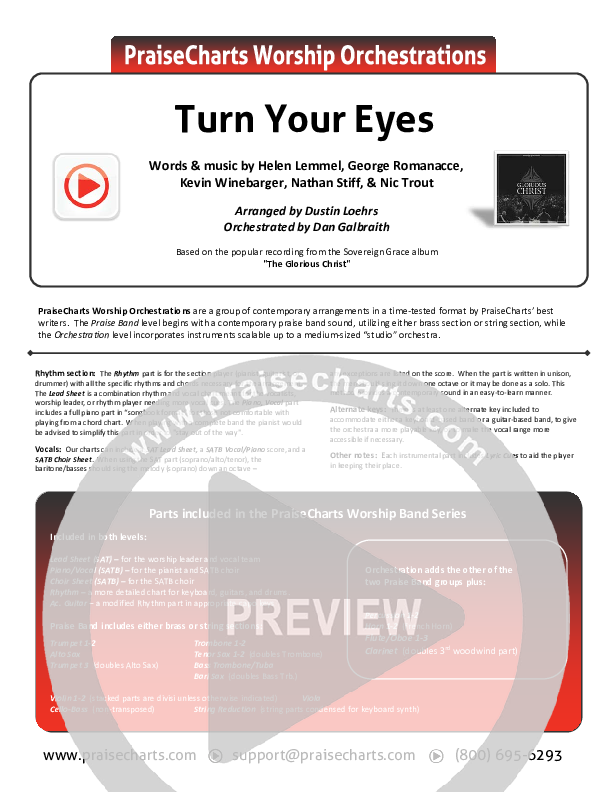 Turn Your Eyes Orchestration (Sovereign Grace)