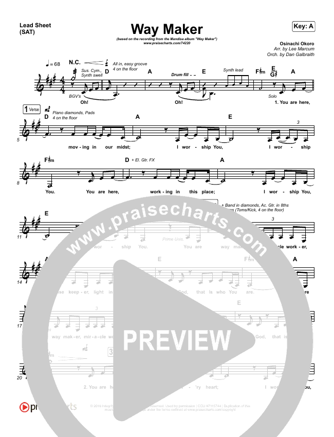 Way Maker Orchestration & Finale (Mandisa)