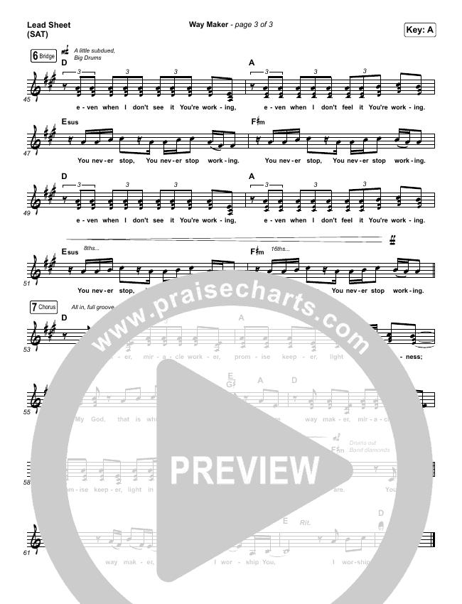 Way Maker Piano/Vocal Pack (Mandisa)