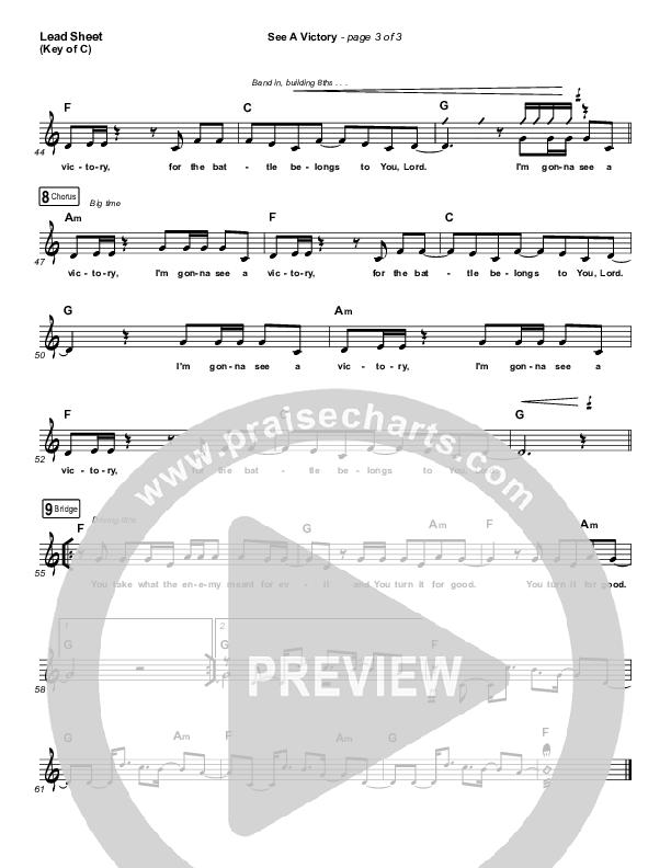 See A Victory (Radio) Lead Sheet (Melody) (Elevation Worship)