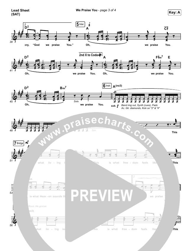 We Praise You (Live) Orchestration & Finale (Matt Redman / Brandon Lake)