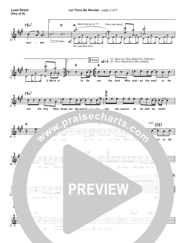 Let There Be Wonder (Live) Lead Sheet (Melody) (Matt Redman)