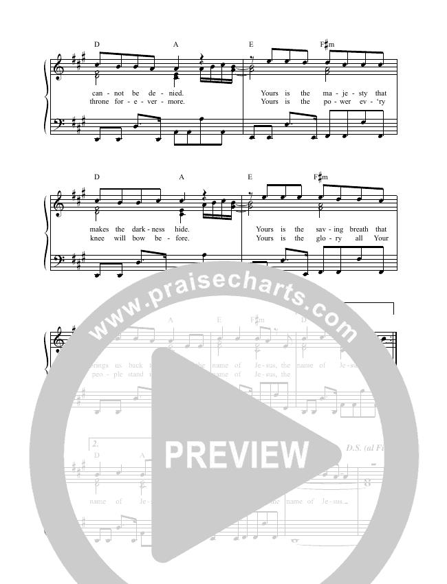 In The Name (Live) Lead & Piano (Matt Redman)