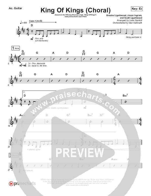 King Of Kings (Choral) Acoustic Guitar (PraiseCharts Choral / Hillsong Worship / Arr. Luke Gambill)